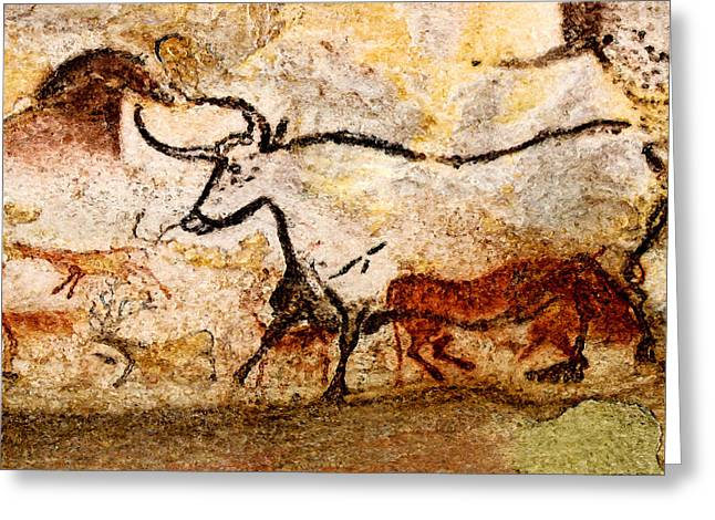 Lascaux Hall Of The Bulls - Aurochs Greeting Card