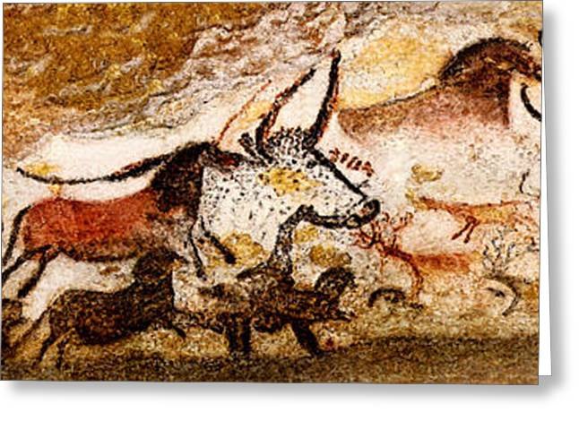 Lascaux Hall Of The Bulls Greeting Card