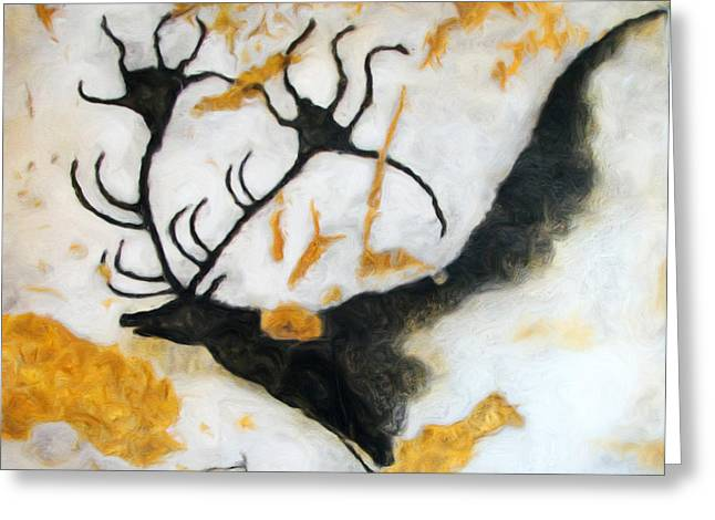 Lascaux Megaceros Deer 2 Greeting Card