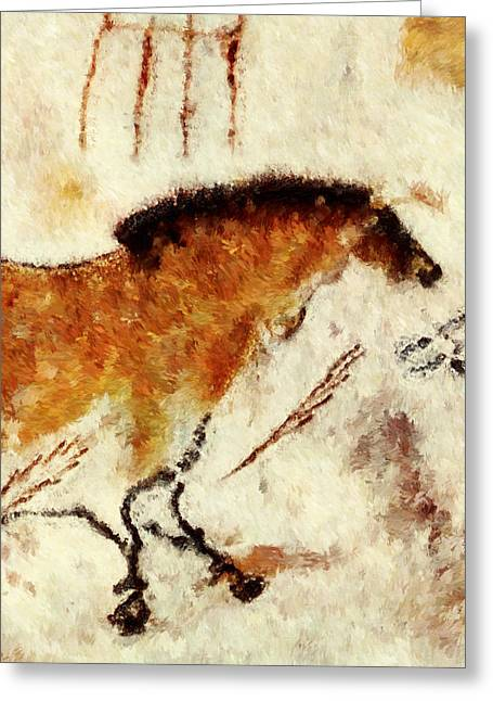 Lascaux Prehistoric Horse Detail Greeting Card