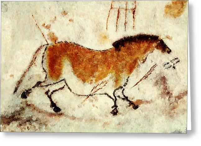 Lascaux Prehistoric Horse Greeting Card