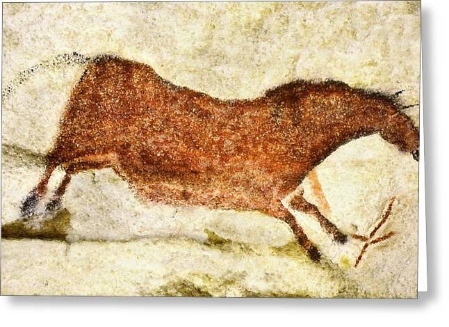 Lascaux Red Horse Greeting Card