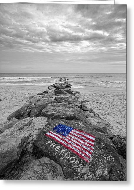 Lashley Beach Freedom Greeting Card by Robert Seifert