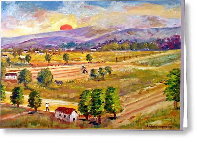Lasithi Valley In Greece Greeting Card