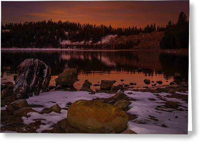 Lassen County Crater Lake Greeting Card by Michele James