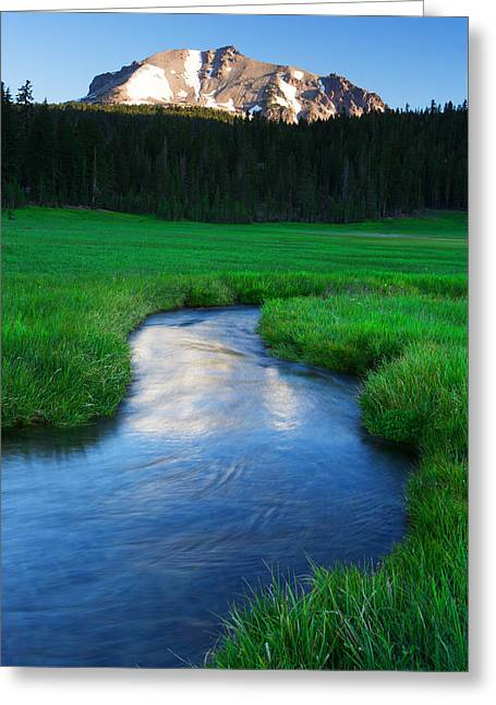 Lassen Reflections Greeting Card by Eric Foltz