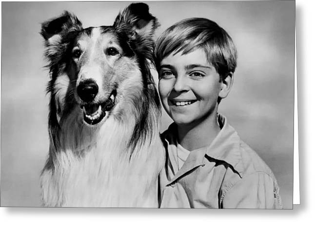 Lassie And Tommy Rettig 1958 Greeting Card
