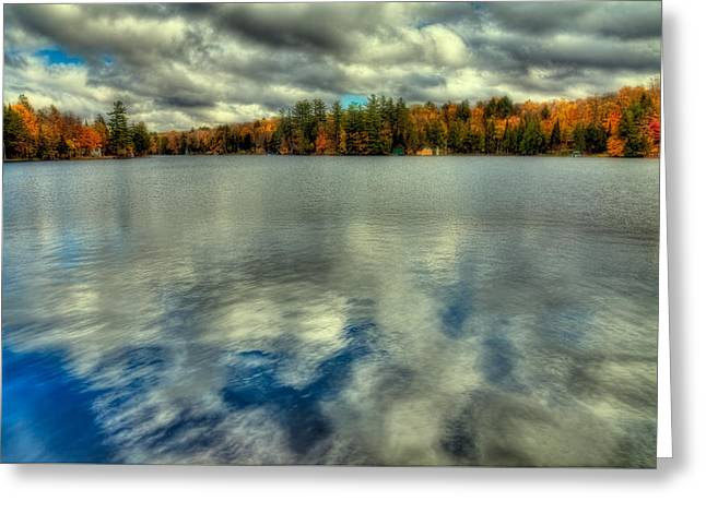 Last Bit Of Autumn On Old Forge Pond Greeting Card by David Patterson