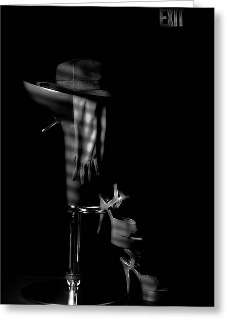 Last Call In Black And White Greeting Card by Tom Mc Nemar