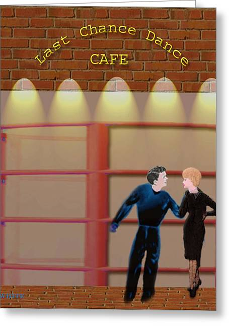 Last Chance Cafe Greeting Card
