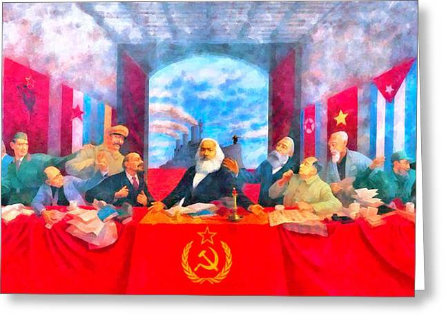 Last Communist Supper 20 - Da Greeting Card by Leonardo Digenio