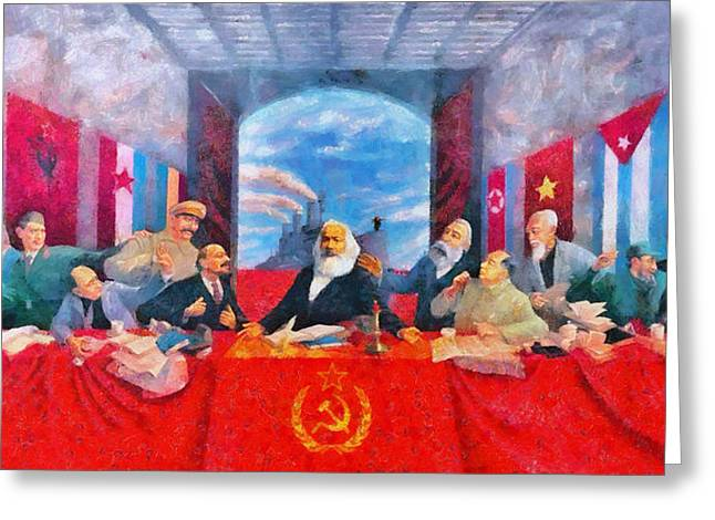 Last Communist Supper 30 - Pa Greeting Card