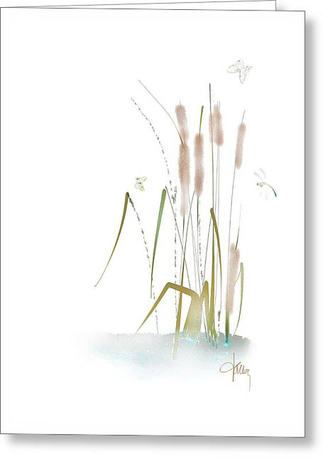 Greeting Card featuring the mixed media Last Summerdance by Larry Talley