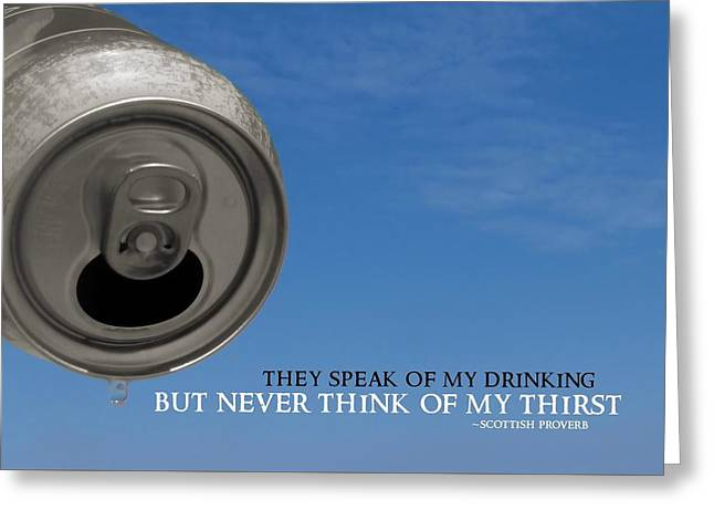 Last Drop Quote Greeting Card by JAMART Photography