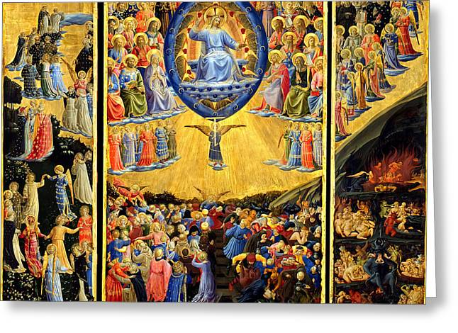 Last Judgment Winged Altar  Greeting Card