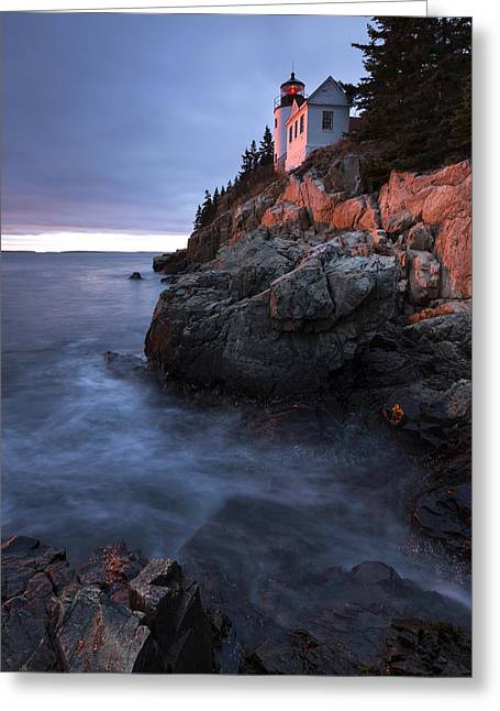 Last Light At Bass Harbor Greeting Card