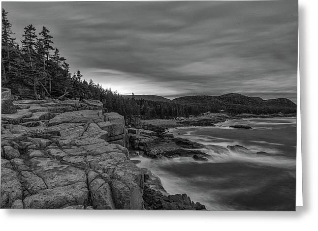 Last Light At Otter Cliff Greeting Card