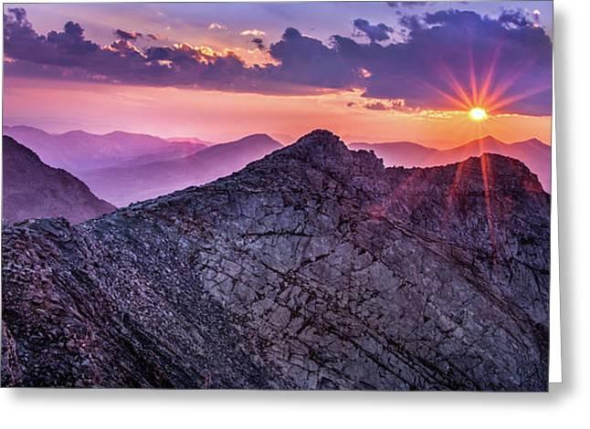 Last Light At The Summit Greeting Card