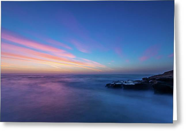 Last Light In April, Sunset Clifs Greeting Card