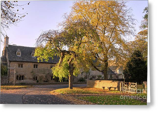Last Light Lower Slaughter Greeting Card