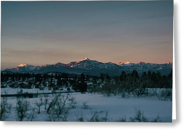Last Light On Pagosa Peak Greeting Card