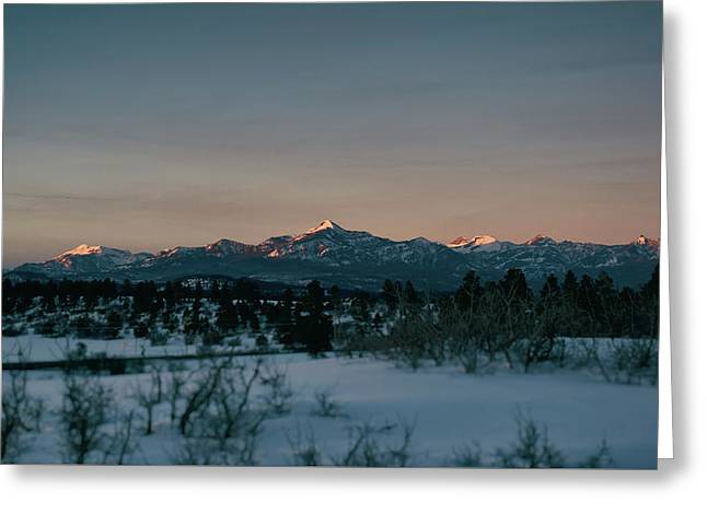 Greeting Card featuring the photograph Last Light On Pagosa Peak by Jason Coward