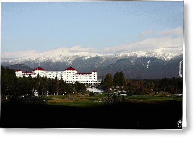 Last Light On The Mount Washington Hotel Greeting Card