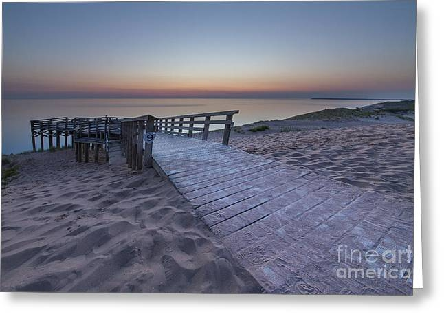 Last Light Over The Dunes Greeting Card by Twenty Two North Photography