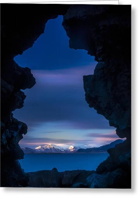 Last Light Through Lava Greeting Card
