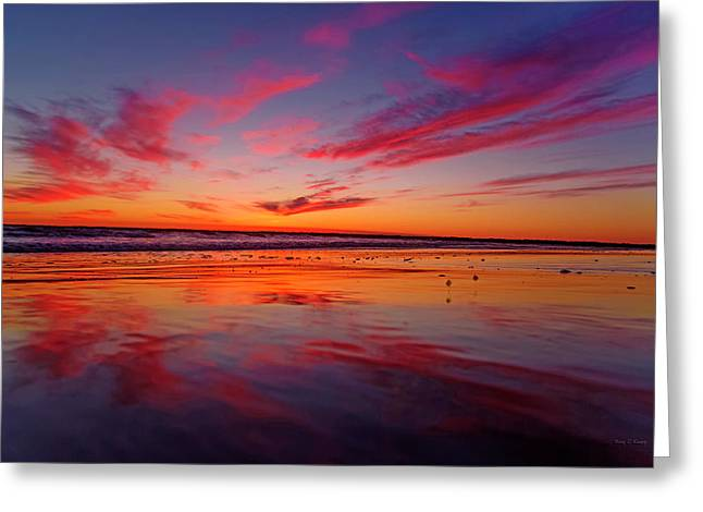 Last Light Topsail Beach Greeting Card by Betsy Knapp