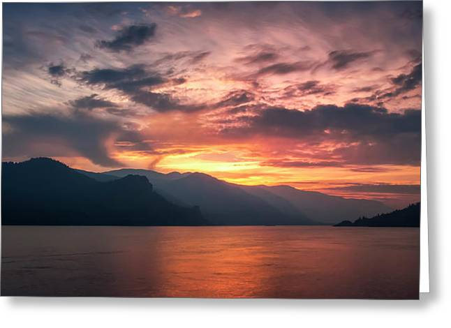 Last Light - Wide Greeting Card