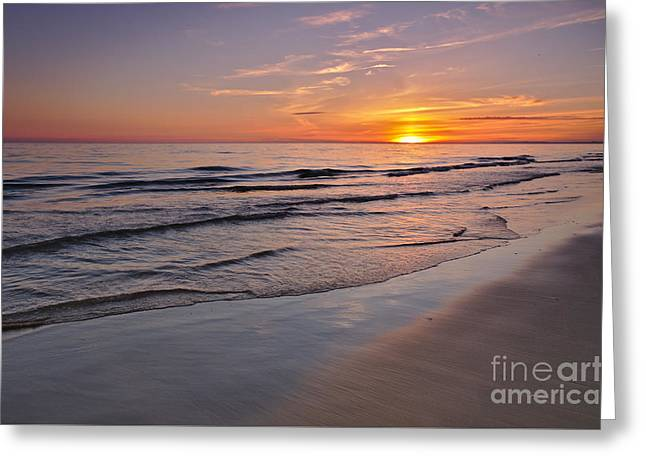Last Minute Summer Beach Sunset 2 Greeting Card by Angelo DeVal