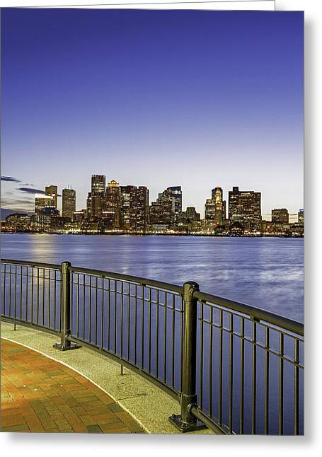 Greeting Card featuring the photograph Last Night Sunset In Boston by Juergen Roth