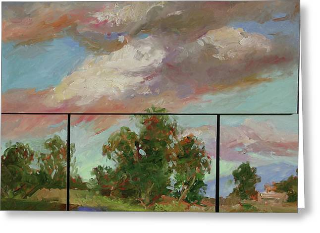 Last Of Sand Creek  - Plein Air Greeting Card
