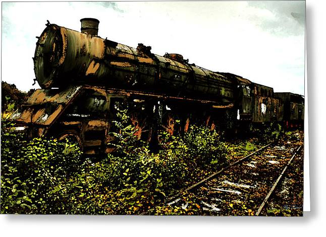 Last Of The 309  Steam Train  Greeting Card