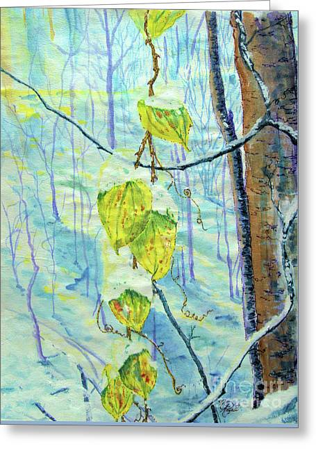 Last Of The Leaves Greeting Card