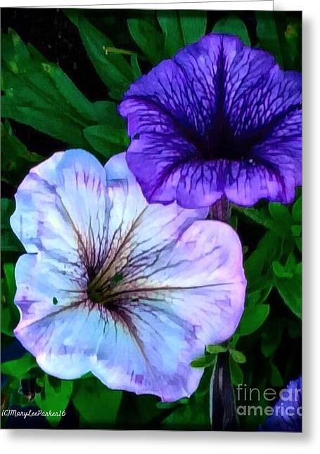 Last Of The Petunias   Greeting Card