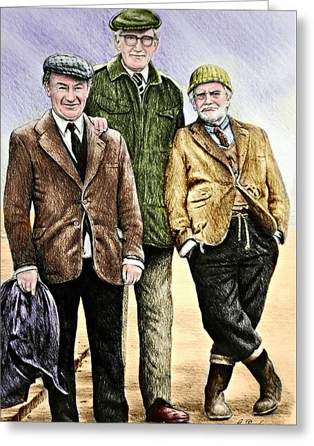 Last Of The Summer Wine Colour Greeting Card