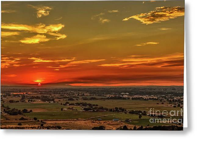 Last Of The Sun Greeting Card by Robert Bales