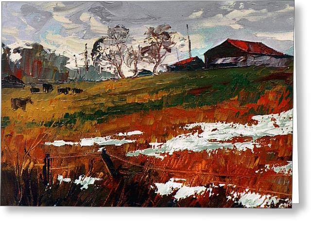 Last Patches Of Snow Greeting Card by Sergey Zhiboedov