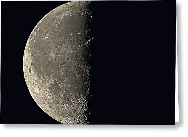 Last Quarter Moon Greeting Card by Eckhard Slawik