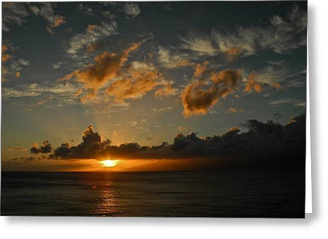 Last Rays Over Molokai Greeting Card by Kirsten Giving