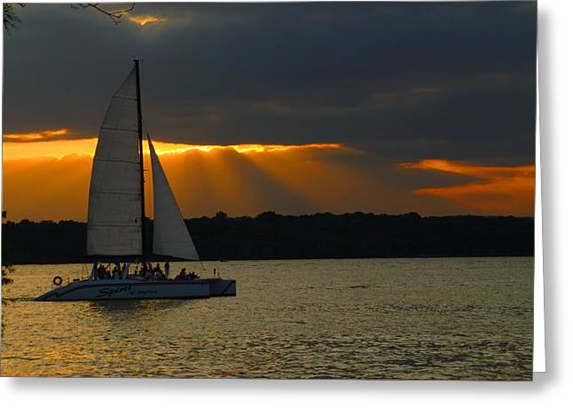 Last Sail Greeting Card by Bj Hodges