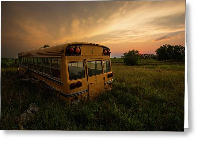 Greeting Card featuring the photograph Last Stop  by Aaron J Groen