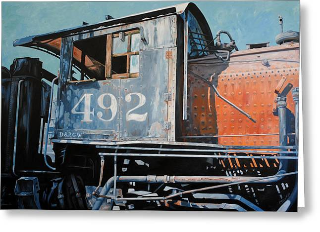 Abandoned Train Greeting Cards - Last Stop Greeting Card by Chris Steinken