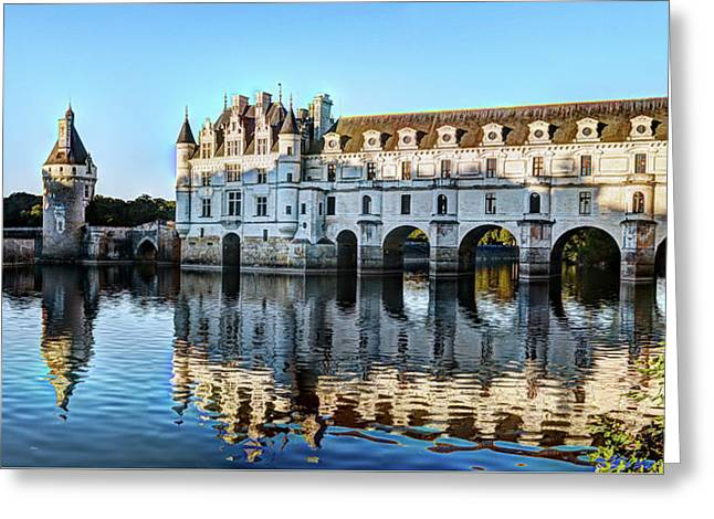 Last Sunlight On Chenonceau Greeting Card