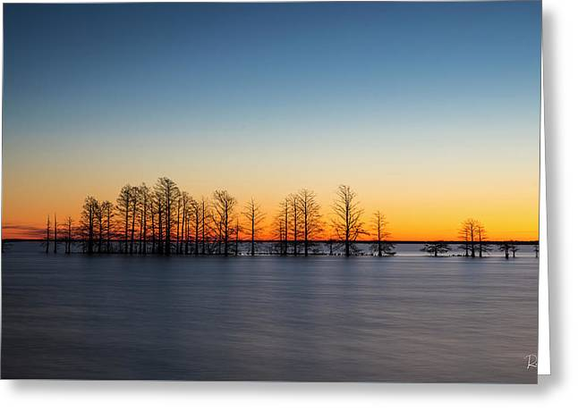 Last Sunrise Greeting Card by Ronald Santini