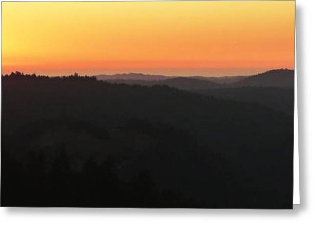 Last Sunset Before The Autumnal Equinox  Greeting Card by JoAnn SkyWatcher