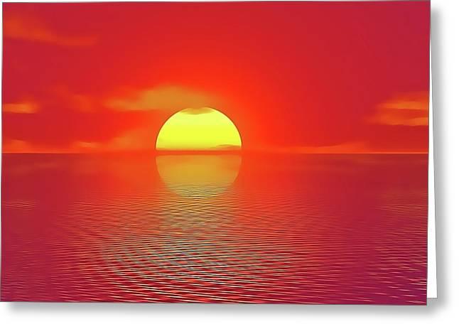 Last Sunset Greeting Card