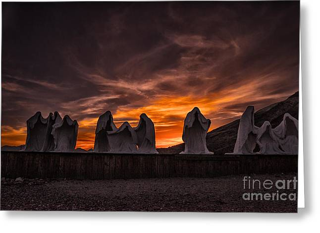Last Supper At Sunset Greeting Card by Janis Knight